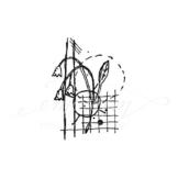 Unmontierter Stempel - Abstract floral No. 1 -