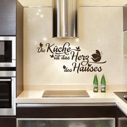 Wandtattoo - Clickzilla - A351 - Die Küche ist das Herz des Hauses -