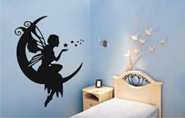 Wandtattoo Elfe / Fee in ihrer Wunschfarbe ca. 50cm x 64cm Breite x Höhe Motiv 332 (in bester Qualität aus Markenfolie gefertigt) -
