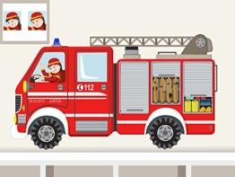 """Wandtattoo """"Feuerwehrauto kantig XS"""" Wandaufkleber Feuerwehrwagen für Junge Kinderzimmer individualisierbar -"""