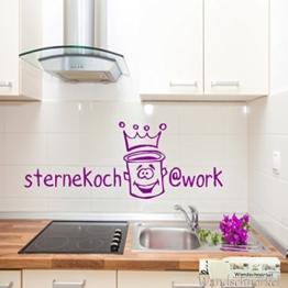 Wandtattoo für die Küche Spruch Wandaufkleber STERNEKOCH...WORK -