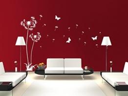 Wandtattoo Pusteblume im 2er Set ca. 120cm und 160cm hoch in ihrer Wunschfarbe. Passend in jedes Zimmer. (in bester Qualität aus Markenfolie gefertigt) -