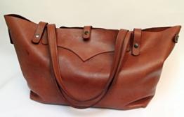 Weekender Wochenendtasche Shopper Handtasche aus feinstem Anilinleder. -