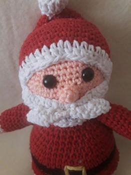 Weihnachtsmann, Santa Claus, Santa, Weihnachten, Spielzeug, Amigurumi, 100% Baumwolle - Häkel -