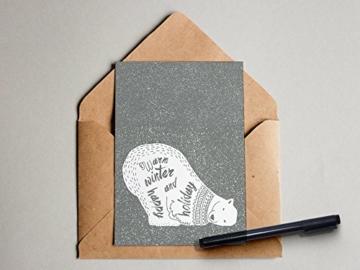 """""""X-MAS Happy Holiday"""" Grußkarte Postkarte -"""
