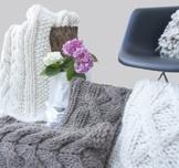 """XL """"SODER"""" Plaid Natural / Ivory aus Wolle / werfen / Decke gestrickte / skandinavische Dekoration / -"""