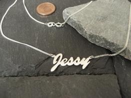 Zierliche Namenskette in 925er Silber (NK02) -